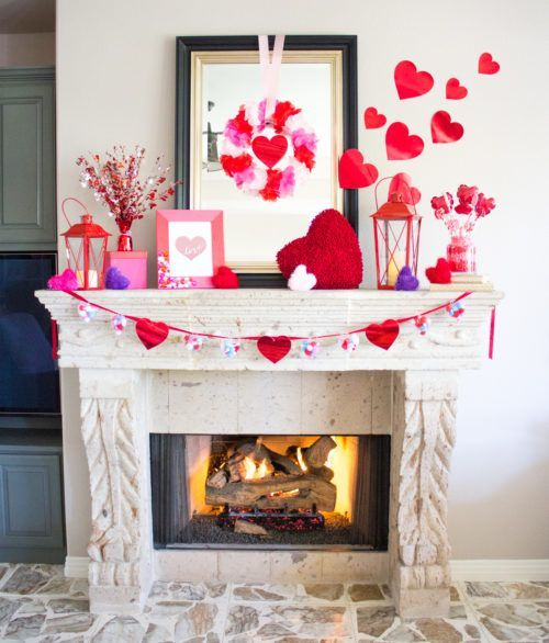 Charming diy crafts for mantel decoration.