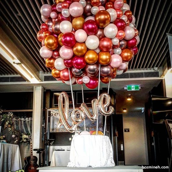 Colorful balloons for party decor.