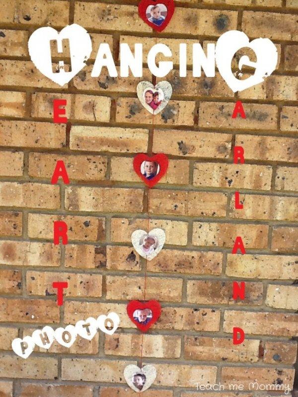 Cool hanging heart photo garland.