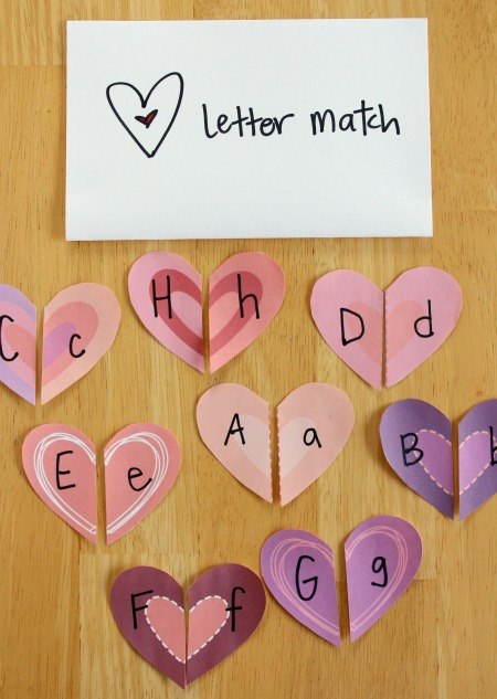 Cool heart letter match game.