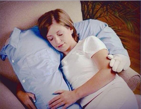 Cozy boyfriend cuddle pillow.