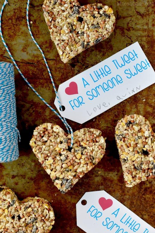 Creative Valentines theme bird feeder.