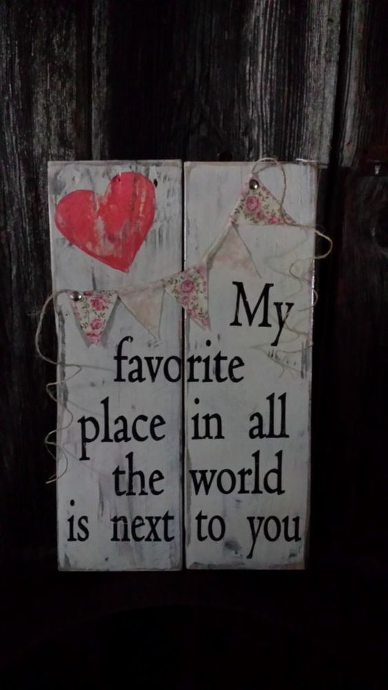 Cute and romantic sign board.