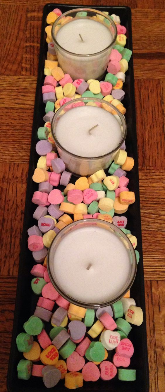Cute centerpiece idea for romantic day.