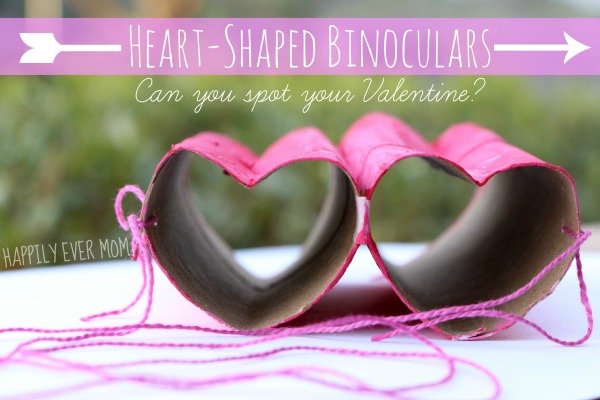 Cute heart shape binoculars.