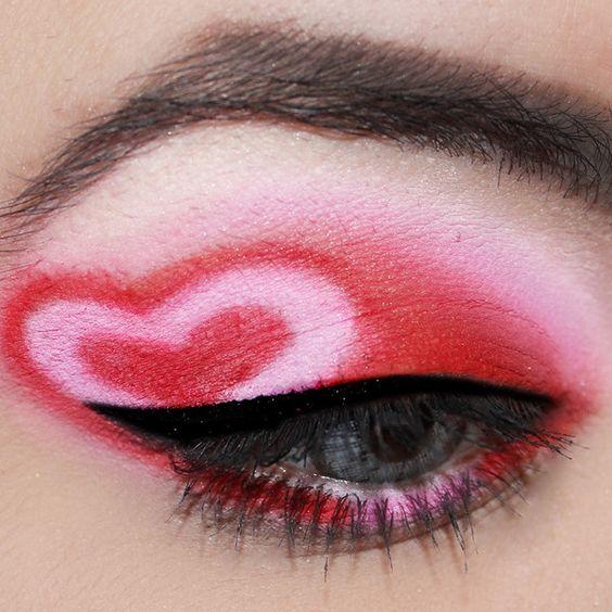 Cute valentine heart eyes.
