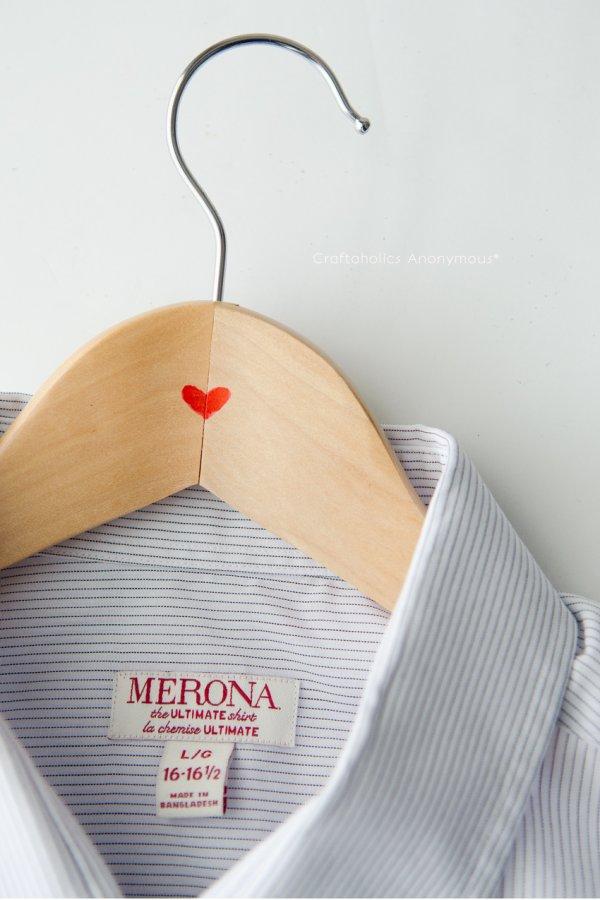 DIY hanger-last minute Valentine gift.