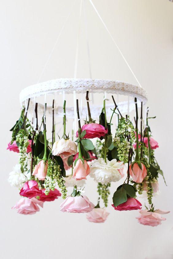 Dangling Flowers Chandelier.