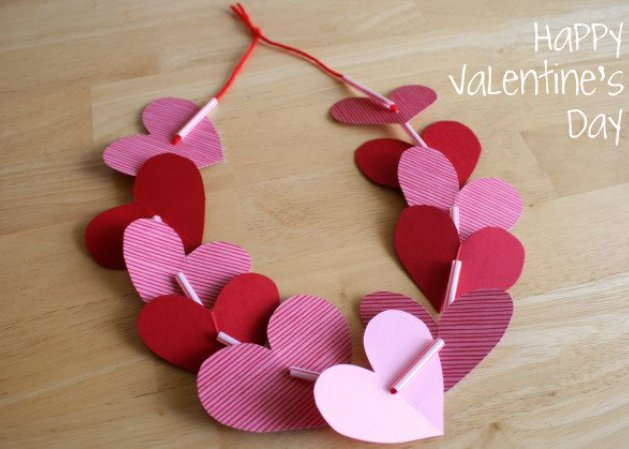 Dashing Valentine heart leis.