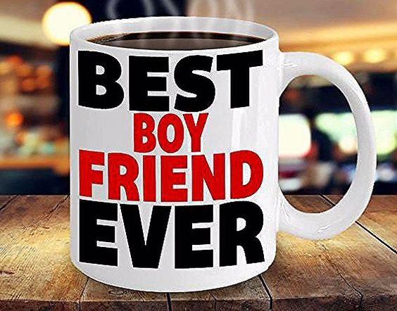 Dashing cup with message for your boyfriend.