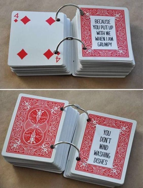 Deck of cards with 52 reasons.