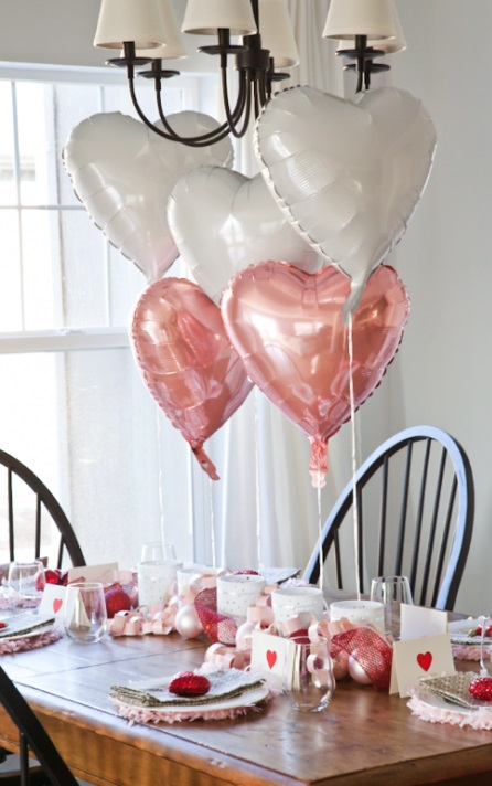 Dollae store Valentine's day table setting.