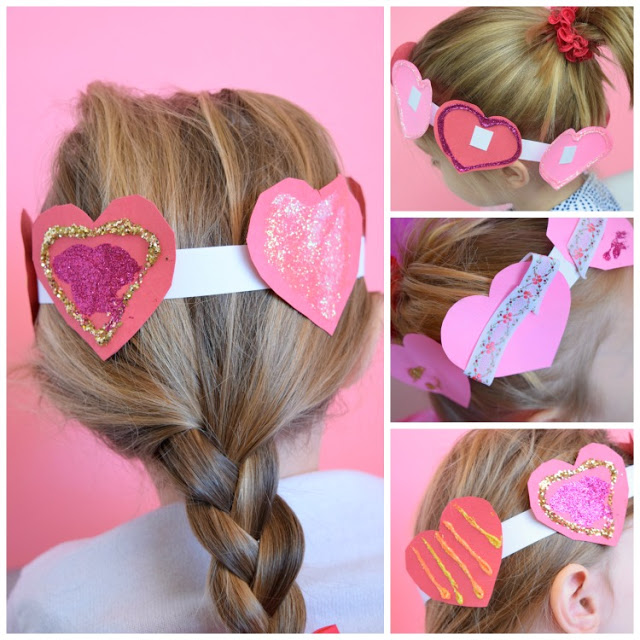 Easiest Valentine day heart crown.