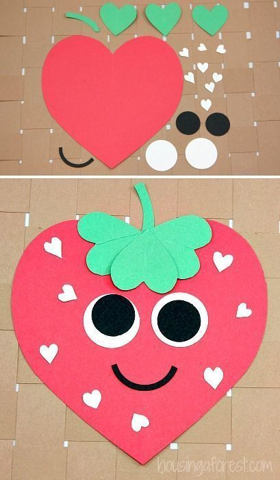 Easy Valentines day craft for kids.