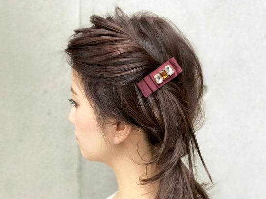 Easy hairdo for romantic day.