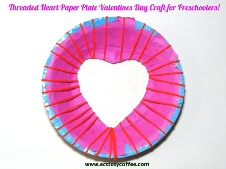 Easy paper plate threaded heart.