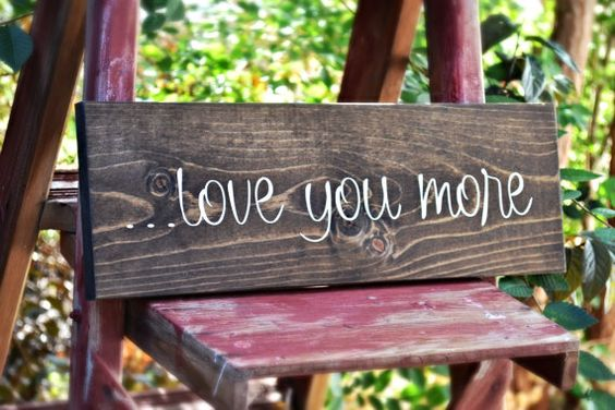 Elegant love sign.