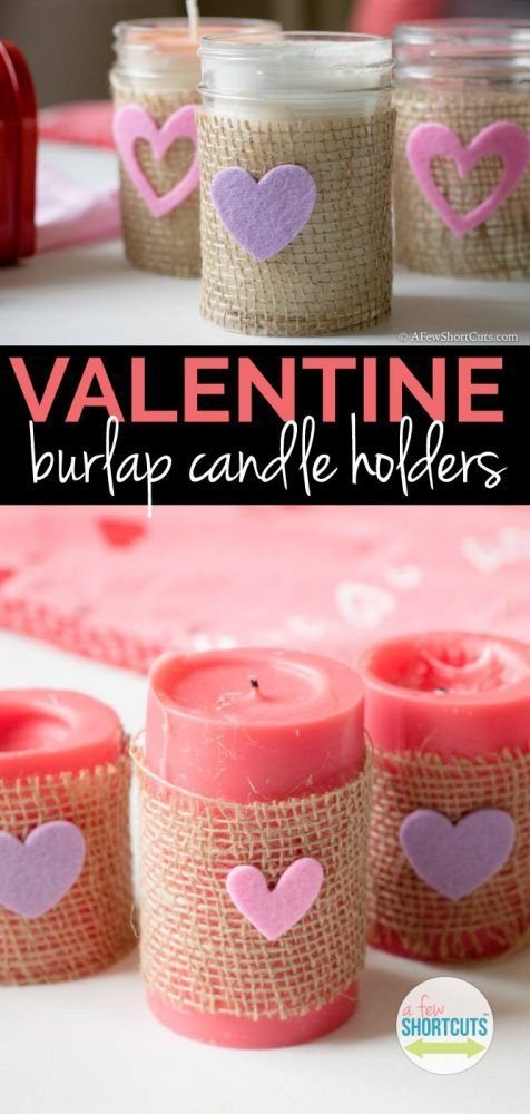 Exclusive burlap candle holder.