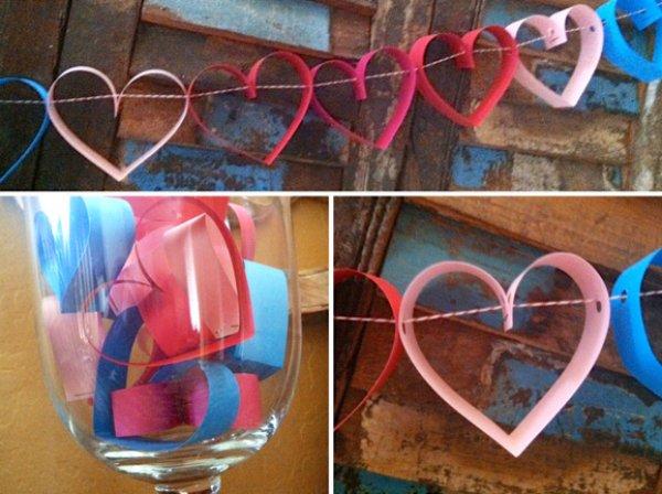 Exclusive heart garland.