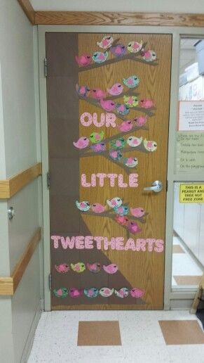 Fabulous Little tweet hearts singing for you door decor.