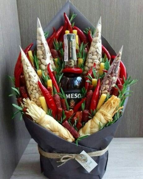 Fabulous drink and snacks gift bouquet.