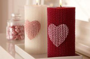 Fabulous heart candles.