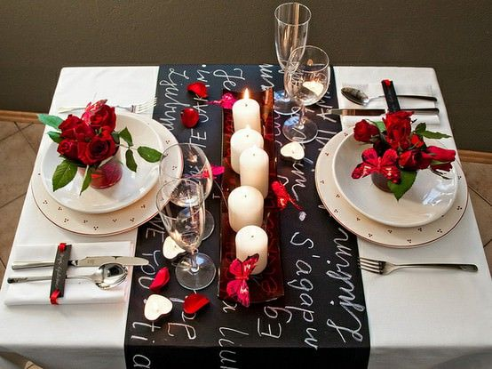 Fabulous idea to decorate table with fresh flowers and candles.