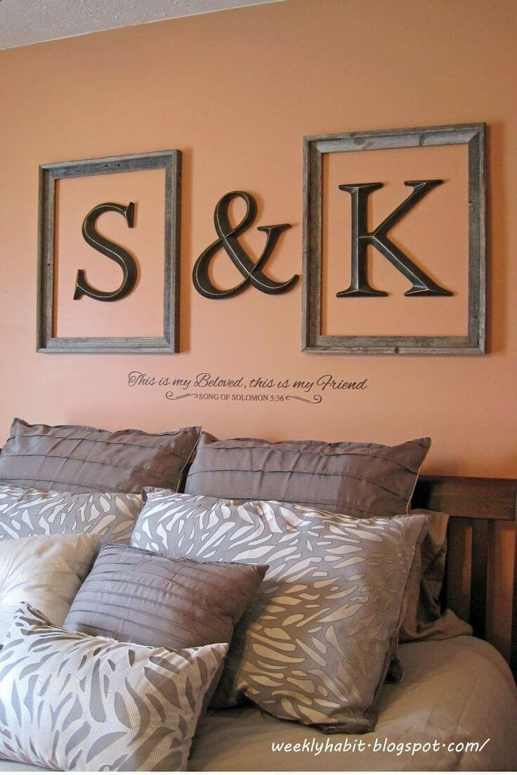 Fabulous initials framed wall letters.