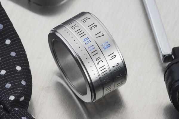 Fashionable ring clock.