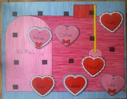 February check-in bulletin board decor.