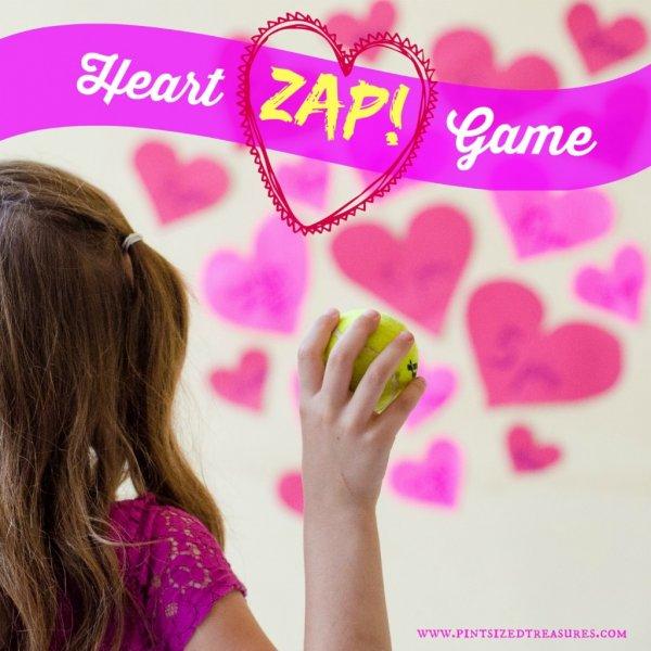 Fun filled heart zap game.