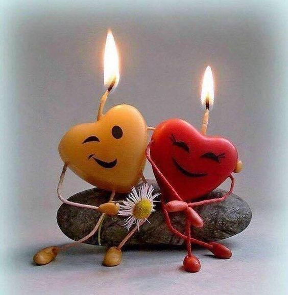 Funny heart candles.