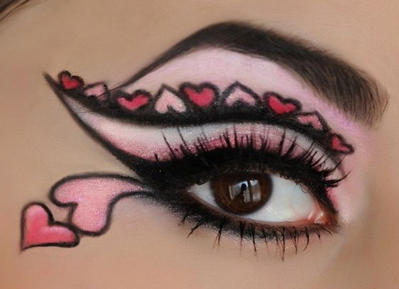 Funny valentine day look.