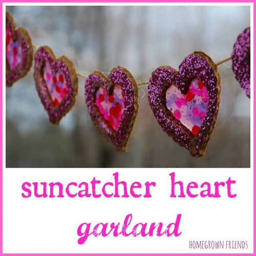 Gorgeous suncatcher heart garland.