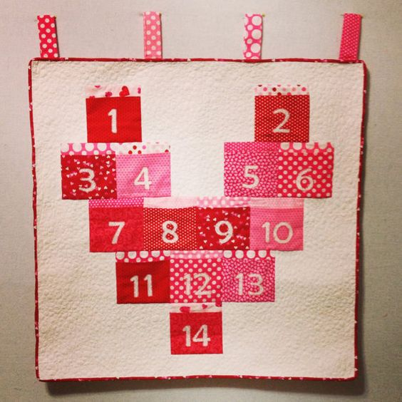 Handmade countdown pocket calendar.