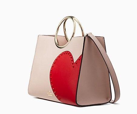 Heart on handbag.