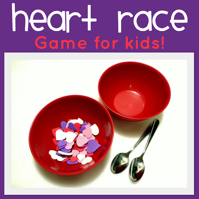 Heart race game for kids.