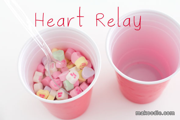 Heart relay game.