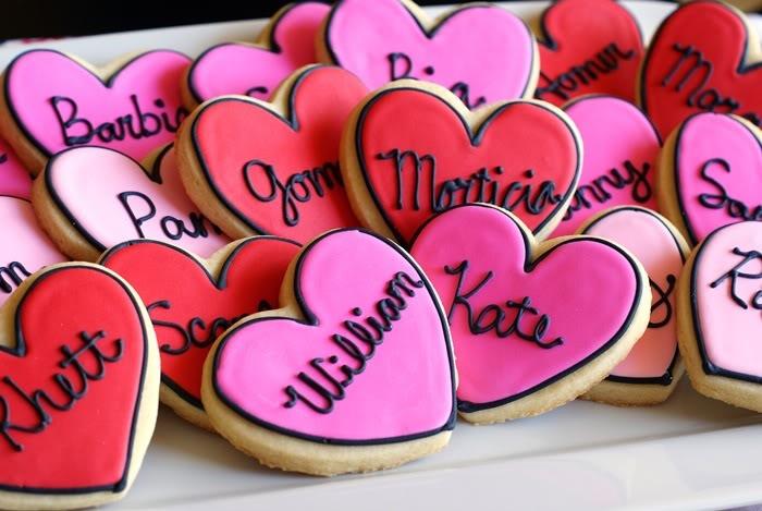 Heart shape cookies.