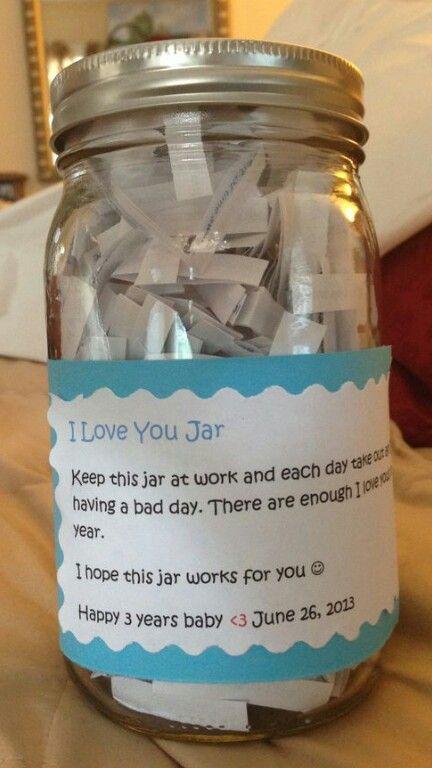 I Love you jar.