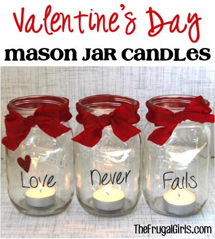 Impressive mason jar love candles.