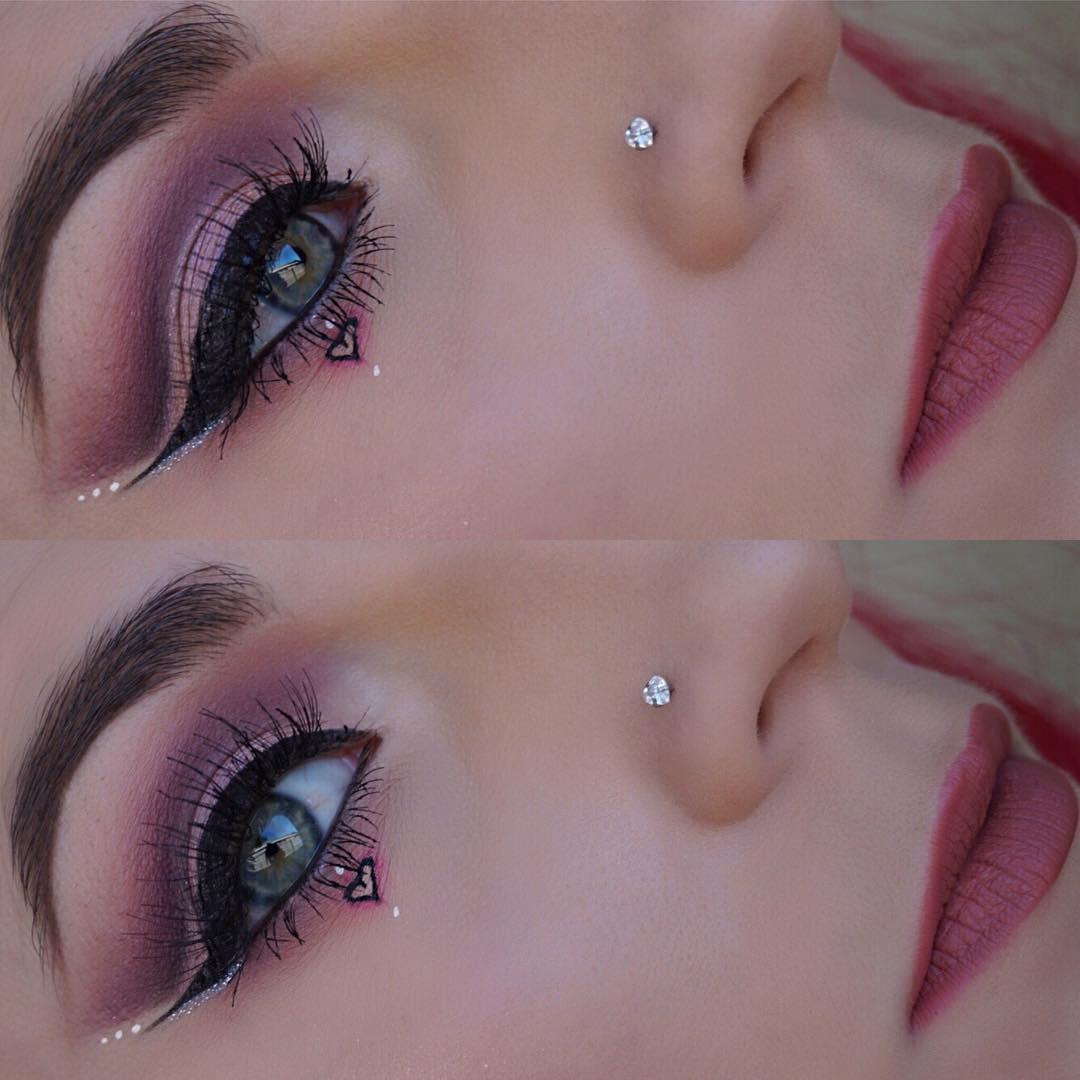 Impressive valentine makeup look.