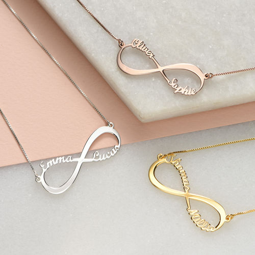 Infinity name necklace for your love.