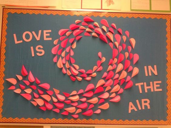 Love is in the air Valentines day bulletin board,