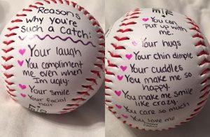 Love notes on baseball.