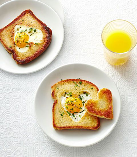 Love toast for Valentines day breakfast.