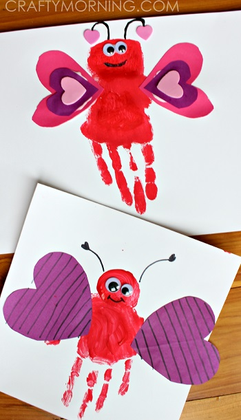 Lovely handprint Valentine craft.