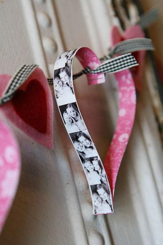 Lovely photo heart garland.
