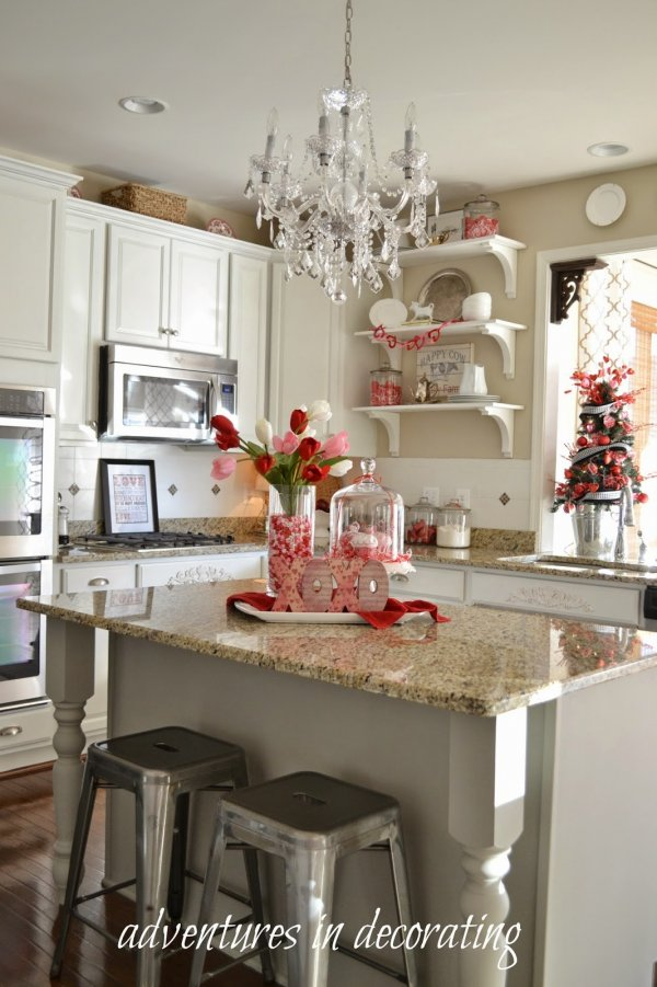 Marvelous kitchen for Valentines day party.