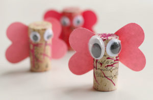 Nice cork love bug craft.